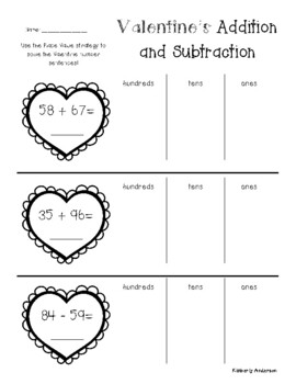 No Prep: St. Patrick's Day Addition / Subtraction (2 / 3 Digit Differentiated)