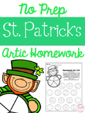 No Prep St. Patrick's Day Articulation Homework
