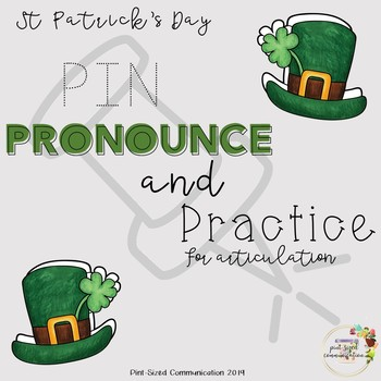 No-Prep St Patrick's Day Pin, Pronounce and Practice for Articulation