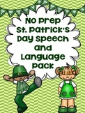 No Prep St. Patrick's Day Speech and Language Pack