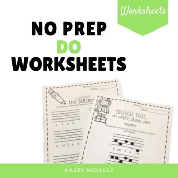 No Prep Staff Writing Do Worksheets