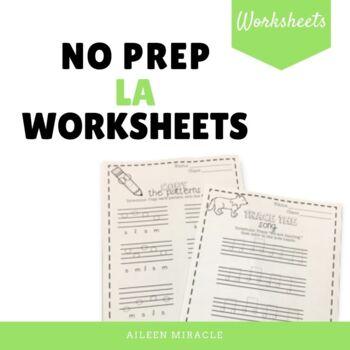 No Prep Staff Writing La Worksheets