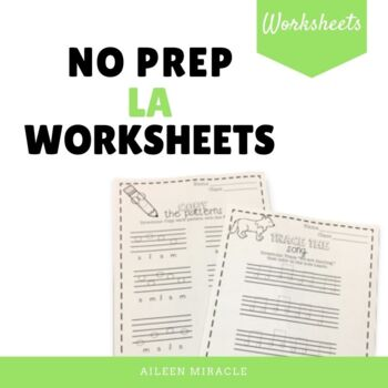 No Prep Staff Writing La Worksheets