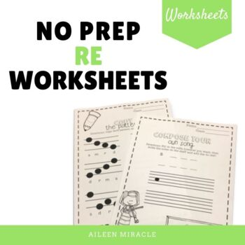 No Prep Staff Writing Re Worksheets