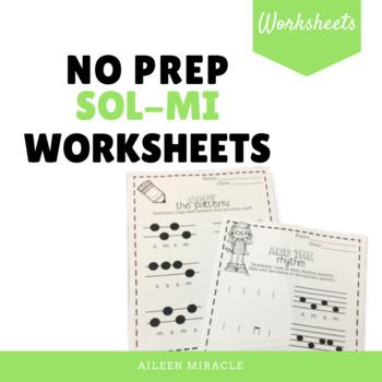 No Prep Staff Writing Sol-Mi Worksheets