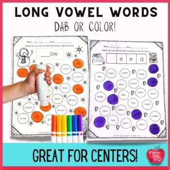 No Prep Stamp the Long Vowel Worksheets