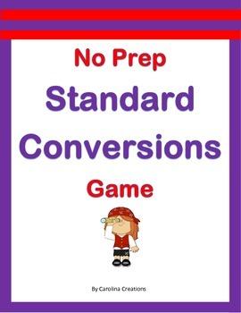 No Prep Standard Conversions Game - 4.MD.A.1