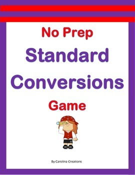 No Prep Standard Conversions Game - 4.MD.A.1
