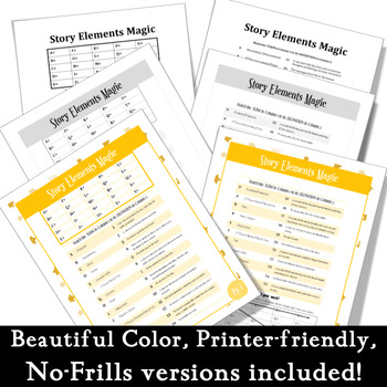 25 Story Elements Magic + Study Guide: No prep! Assignment or Assessment
