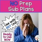 No Prep Sub Plans