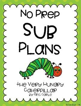 No Prep Sub Plans - Hungry Caterpillar
