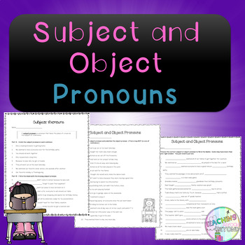 No-Prep - Subject and Object Pronouns