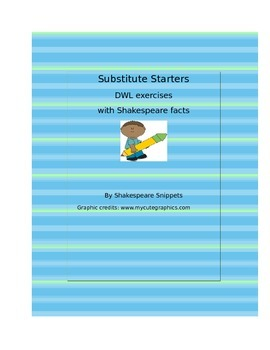 No Prep Substitute Starters 45 Dwls Grammar Exercises Using