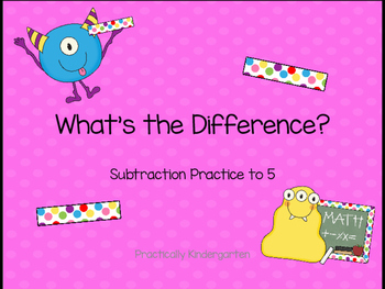 No Prep Subtraction Facts to 5