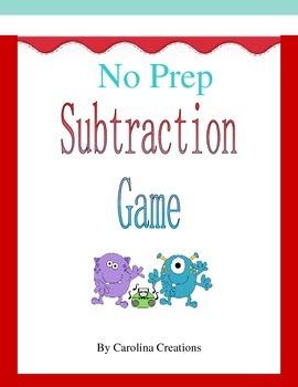 No Prep Subtraction Game to Thousands 4.NBT.B.4 and 3.NBT.A.2