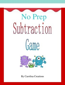 No Prep Subtraction Game to Thousands 4.NBT.B.4 and 3.NBT.A.2
