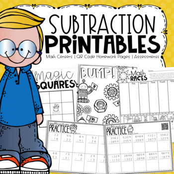 No Prep Subtraction Printables {Centers, Small Groups, Homework, Assessments}