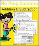No Prep Summer Addition & Subtraction