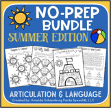 No Prep Summer Bundle: Articulation & Language