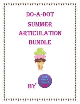 No-Prep Summer Do-a-Dot Articulation sheets