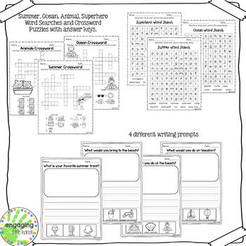 No Prep Summer Literacy Activities for First Grade