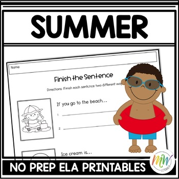 No Prep Summer Literacy Activity Packet