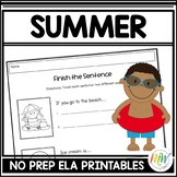 No Prep Summer Activities