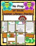 No Prep Summer Literacy Practice, 1st Grade