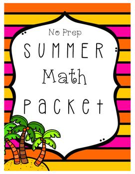 No Prep Summer Math Packet