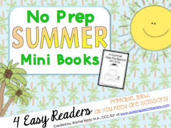 No Prep Summer Mini Books {Easy Readers}
