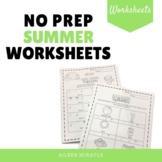 No Prep Summer Music Worksheets