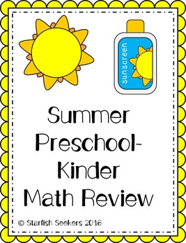 Summer Math Review - Preschool/Kinder