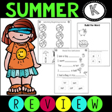 Summer Review Packet ELA Language Arts Kindergarten