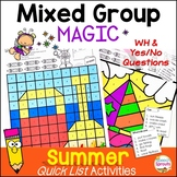 No-Prep Summer Speech Therapy Activities plus WH Questions