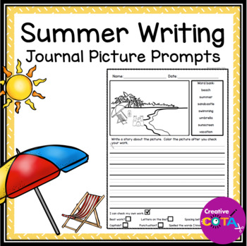 No Prep Summer Writing Journal Picture Prompts