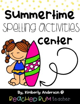 No Prep - Summer themed Word Work - Word Study / Spelling