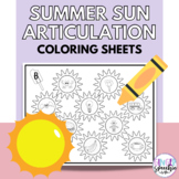 No Prep Sun Summer Articulation Coloring: All Sounds