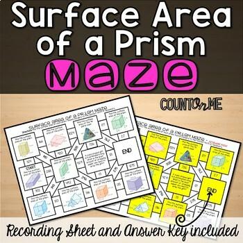 No Prep Surface Area of a Prism Maze