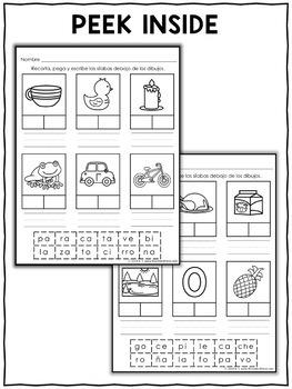 Spanish Syllable Worksheets 1