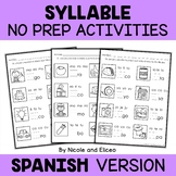 Spanish Syllable Worksheets 3