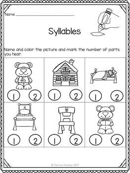 No Prep Syllables  Worksheets
