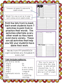 No Prep Syllables and Affixes Spelling Word Lists and Activities