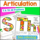 No Prep Th & S Articulation Activities for Speech Therapy