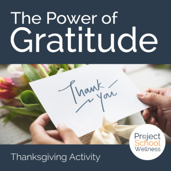 No Prep Activity - The Power of Gratitude (Character Education/School Counselor)