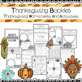 No Prep Thanksgiving Booklet - Thanksgiving Worksheets And Activities