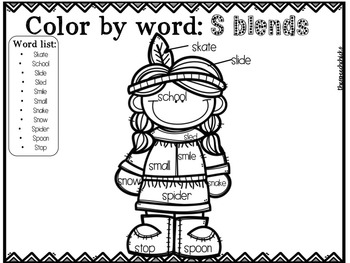No Prep: Thanksgiving Color By Word Articulation