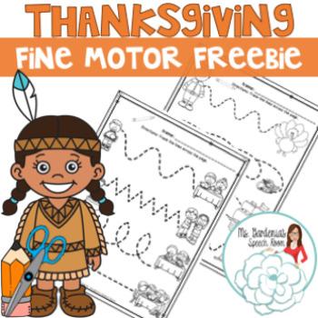 No Prep Thanksgiving Fine Motor Freebie