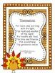 No Prep Thanksgiving Prayer/ Poem Activity {year2tastic}