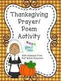 No Prep Thanksgiving Prayer/ Poem Activity {year2tastic}