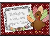 No Prep Thanksgiving Speech and Language Games